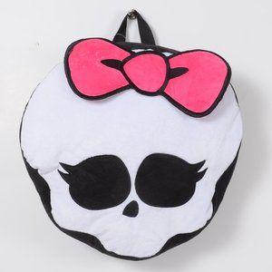 """Monster High Skull Shape Plush 12"""" Backpack Bag"""
